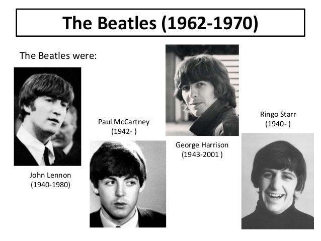a report on the lives and career of the beatles an english rock band After the beatles stopped making records in 1970, he lived in the united states with his wife yoko ono, and continued his music career up until his death in 1980.