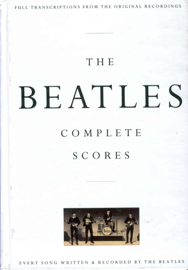 The beatles   complete scores (1120 pag.)