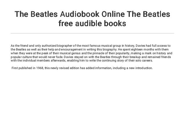 The Beatles Audiobook Online The Beatles free audible books