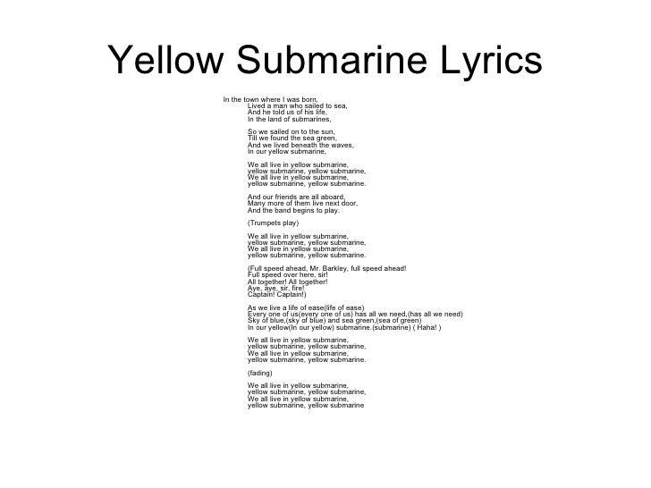 The Beatles - Yellow Submarine Lyrics | MetroLyrics