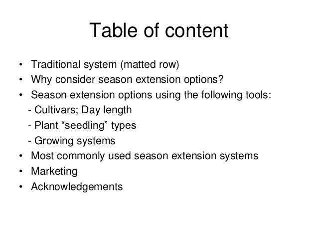 """Strawberry Season Extension Techniques: """"Lessons Gained in Quebec"""" Slide 2"""