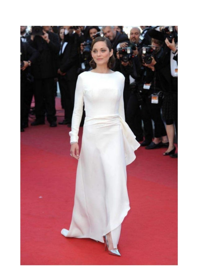 The beautiful evening dresses of french star marion cotillard