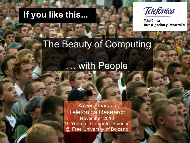 The Beauty of Computing with People