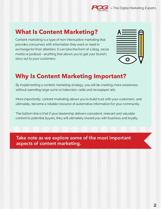 The Beginner's Guide to Content Marketing for Car Dealers Slide 2