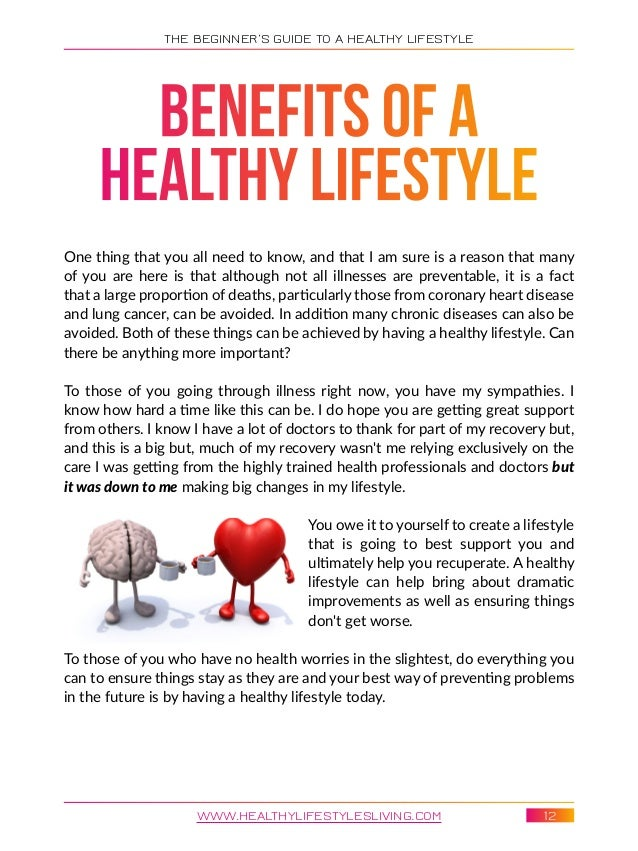 what are the benefits of a healthy lifestyle