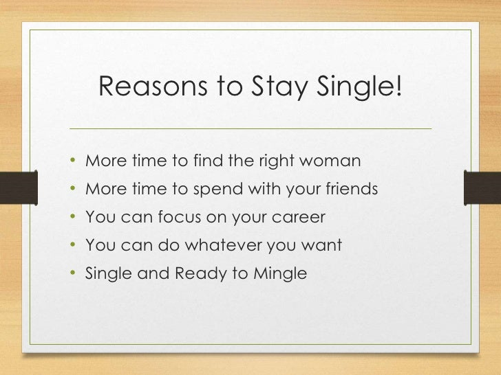 advantages of being single essay