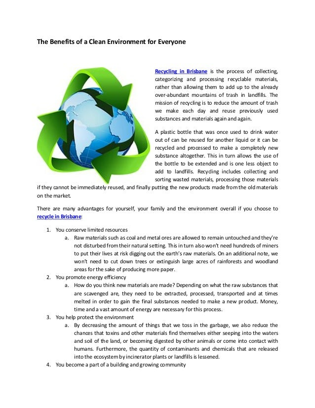 Advantages and Disadvantages of Recycling