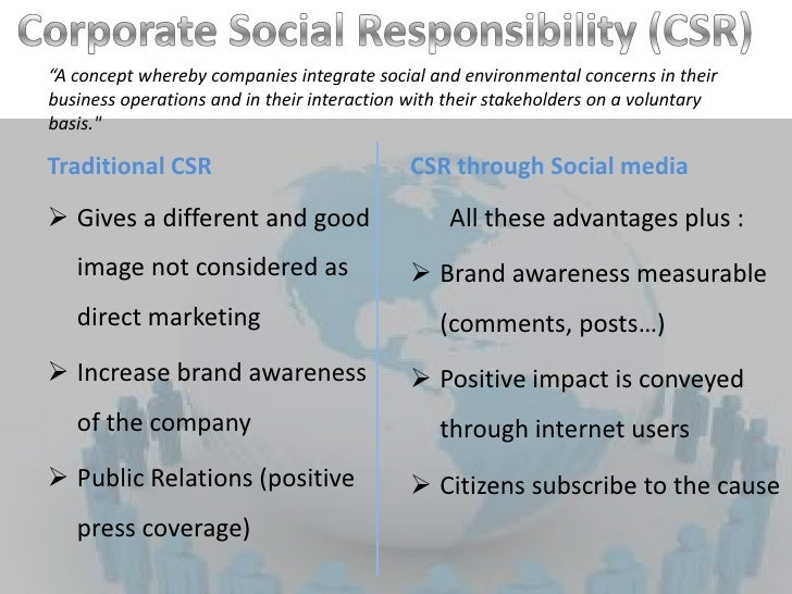 "costs and benefits of corporate social responsibility And corporate social responsibility (csr)  business benefits of sustainability reporting in singapore"" on 24  • perceived cost."