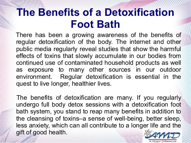 Detox machine benefits
