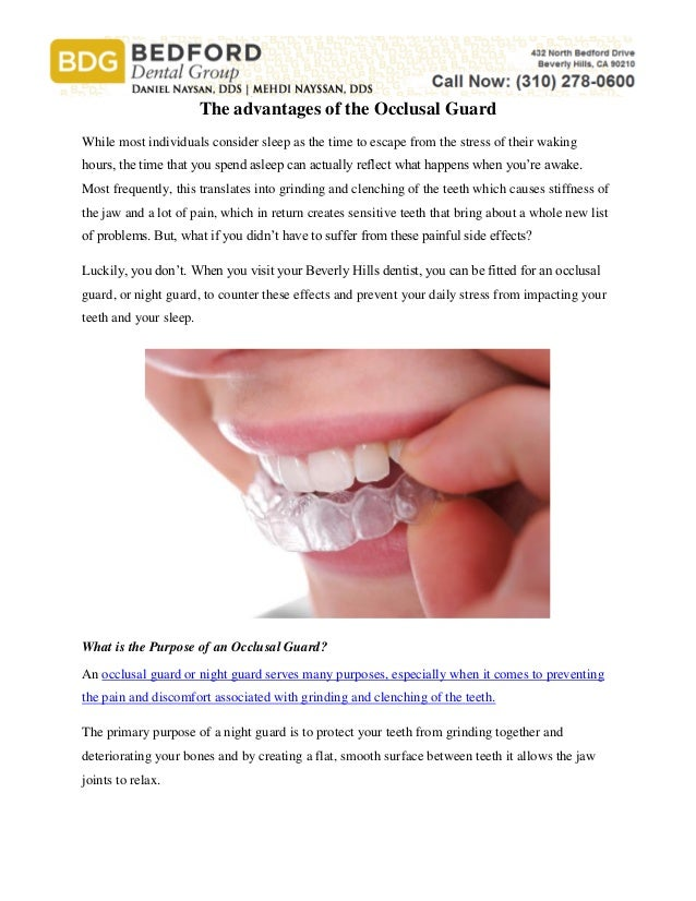 the advantages of the occlusal guard