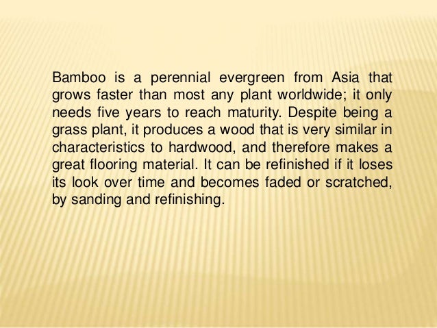THE BENEFITS OF BAMBOO FLOORING; 2. Bamboo ...
