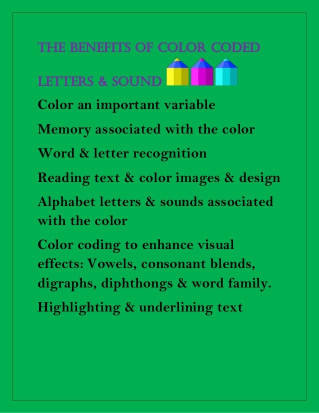 The Benefits Of Color Coded Letters Docx4 1