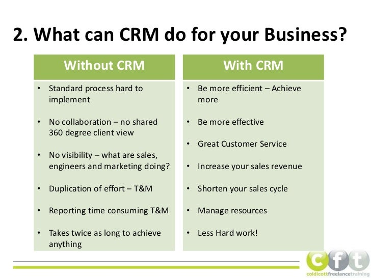 The Benefits of CRM