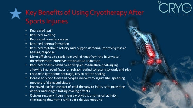 The Benefits Of Cryotherapy Treatment For Sports Injuries