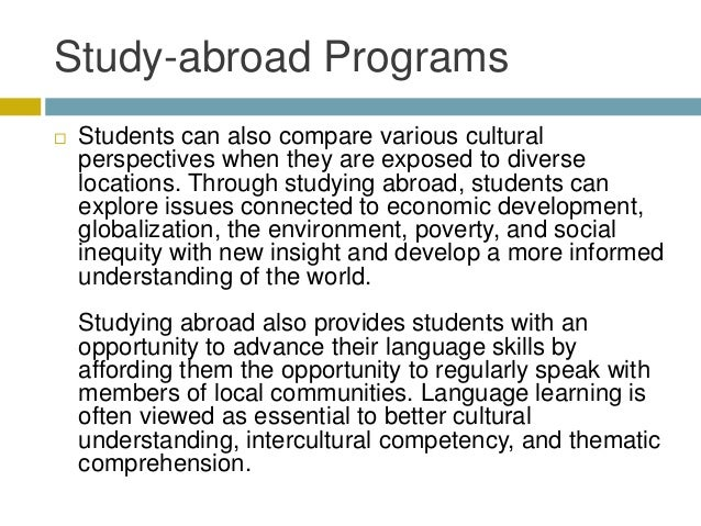 Studying Abroad: The Benefits | Top Universities