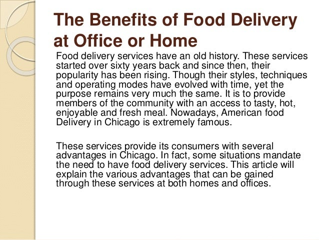 Delivery Services Food Chicago