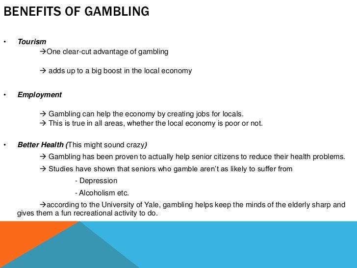 Gambling benefits economy sotocash casino
