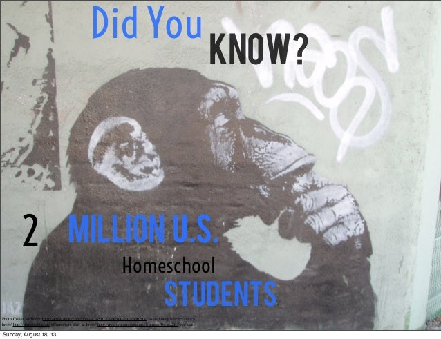 "Did You Know? 2 Million Homeschool Students U.S. Photo Credit: <a href=""http://www.flickr.com/photos/74501279@N00/202260079..."