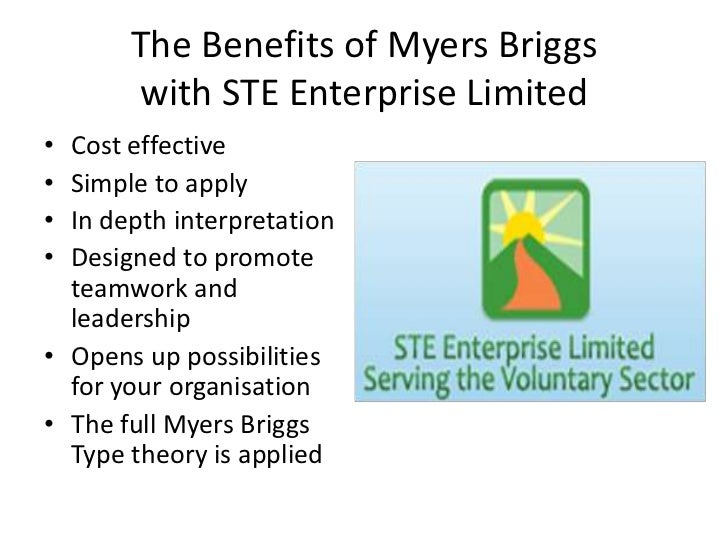 The Benefits of Myers Briggswith STE Enterprise Limited<br />Cost effective<br />Simple to apply<br />In depth interpretat...