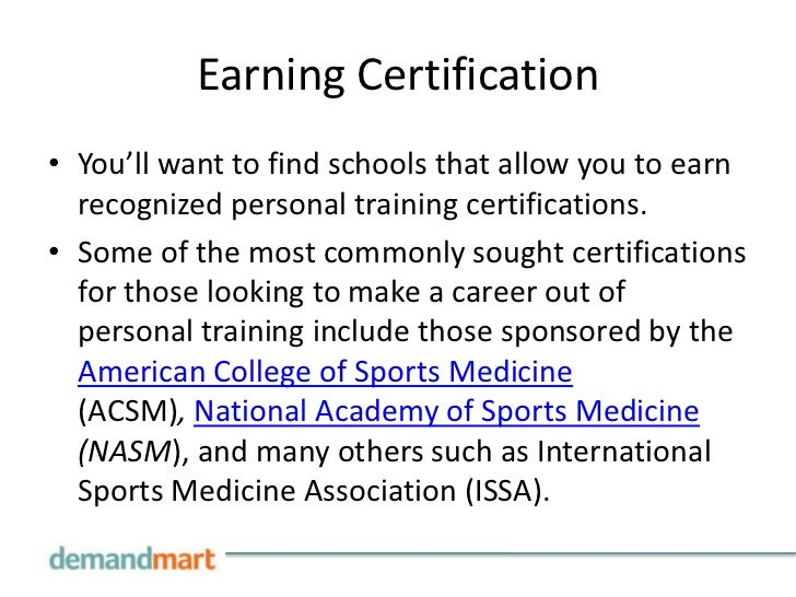 Funky Colleges That Offer Personal Training Certification Gallery ...