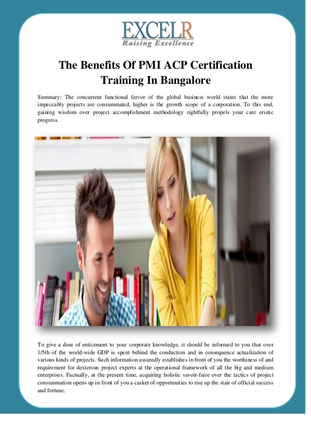 The Benefits Of Pmi Acp Certification Training In Bangalore