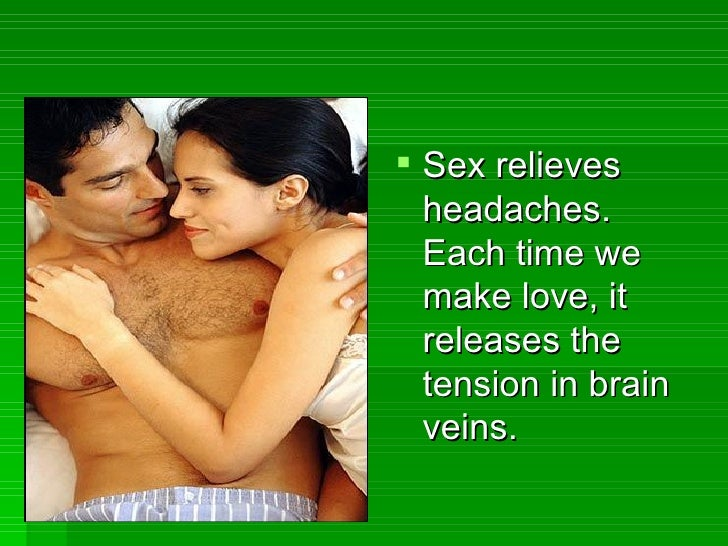 How does sex relieve headaches