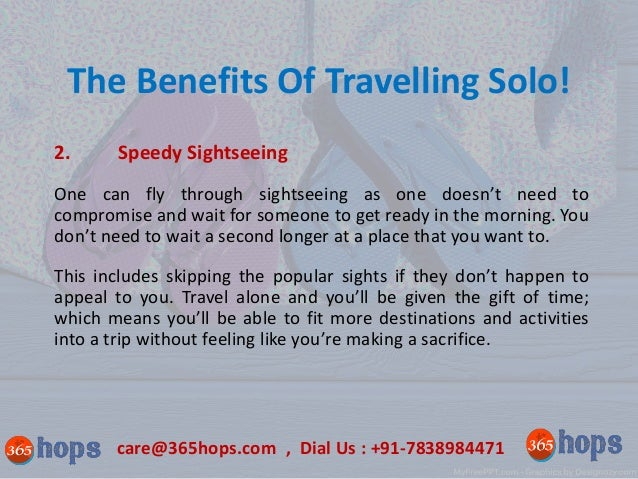 The Benefits Of Travelling Solo