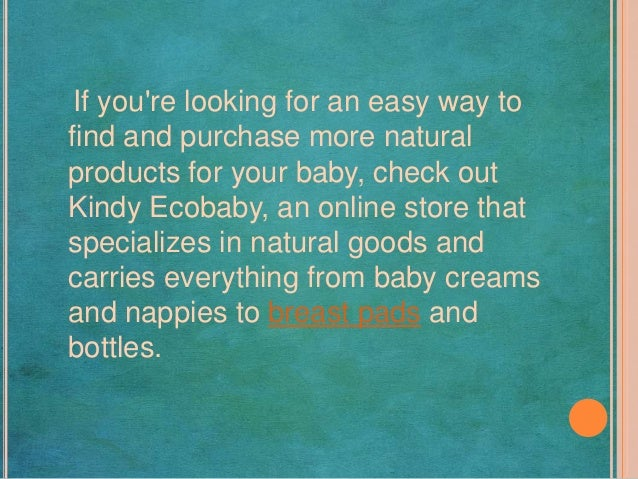 The Benefits Of Using Natural Products On Your New Baby