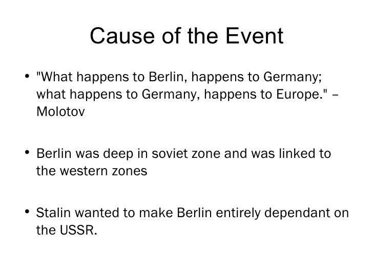 Berlin blockade research paper