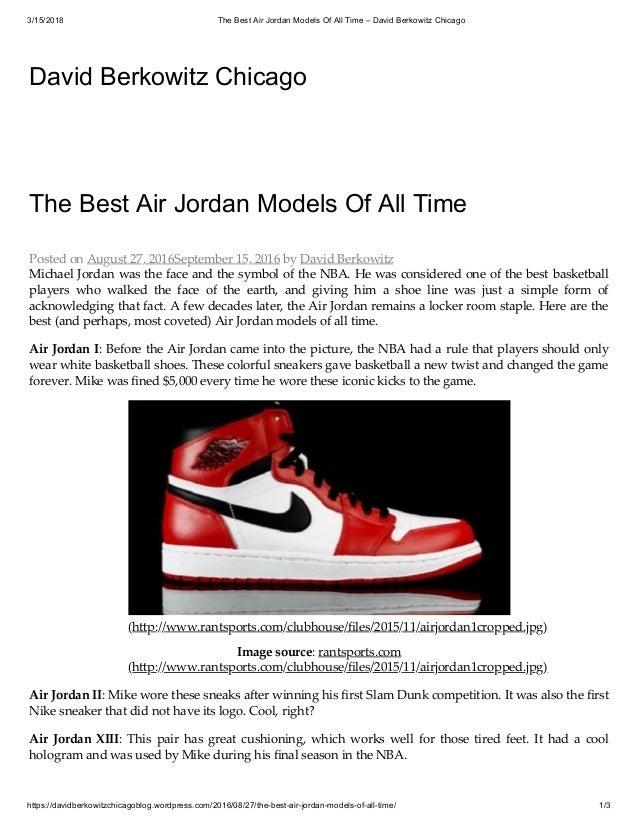 newest 9cd5d 33d41 The best air jordan models of all time