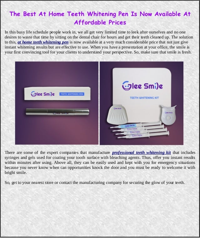 The Best At Home Teeth Whitening Pen Is Now Available At Affordable P