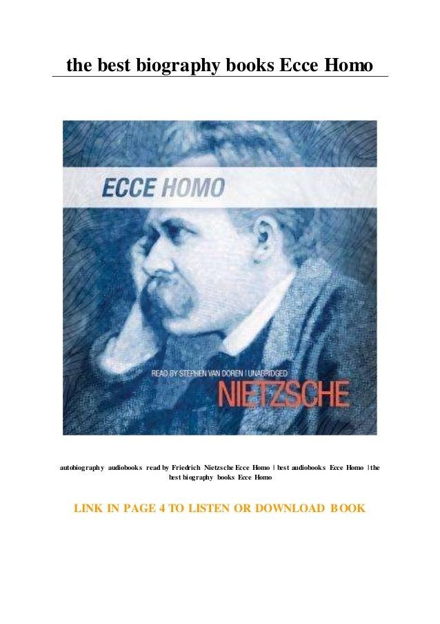 The Best Biography Books Ecce Homo