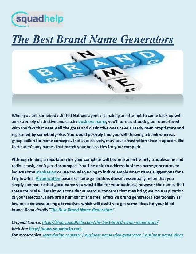 The Best Brand Name Generators,Portfolio Cover Design For Students