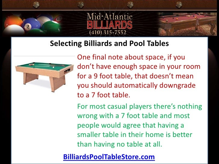 The Best Choice In Billiards And Pool Tables - Space needed for 7 foot pool table