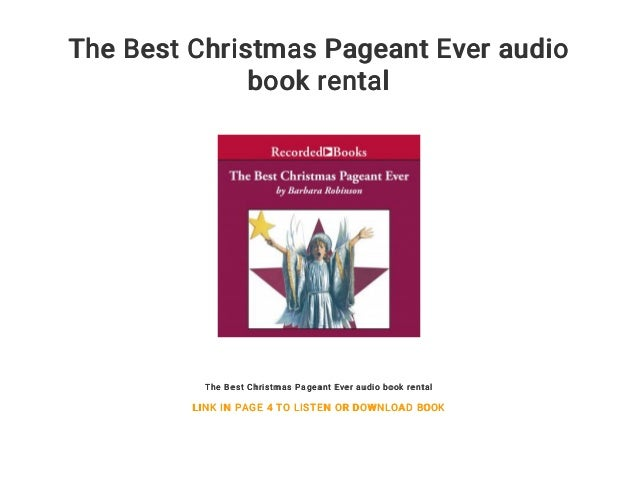 the best christmas pageant ever audio book rental the best christmas pageant ever audio book rental - The Best Christmas Pageant Ever Book