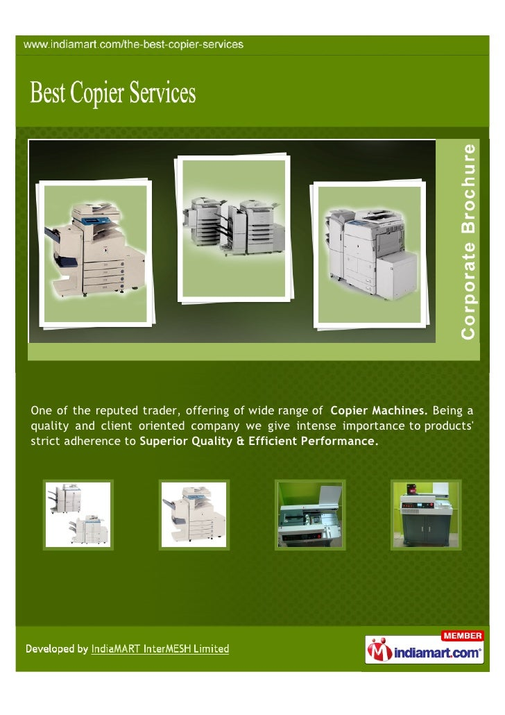 One of the reputed trader, offering of wide range of Copier Machines. Being aquality and client oriented company we give i...