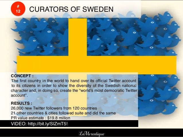 #    !    !        12!   !CURATORS OF SWEDEN!    !CONCEPT :!    !The first country in the world to hand over its official Tw...