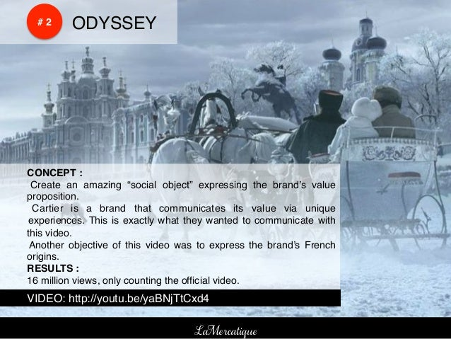 """!    !    # 2!   !ODYSSEY!!CONCEPT :!! Create an amazing """"social object"""" expressing the brand's value!proposition.!! Carti..."""