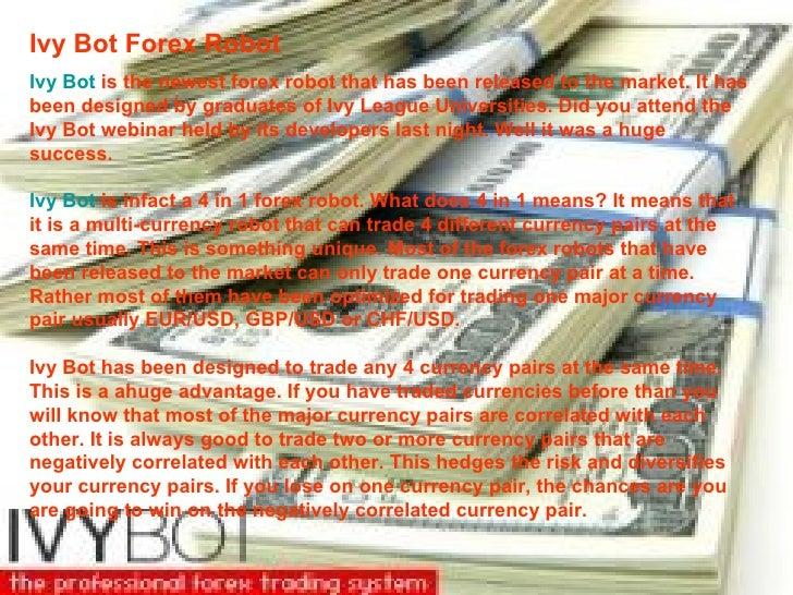 Ivy bot forex trading robot