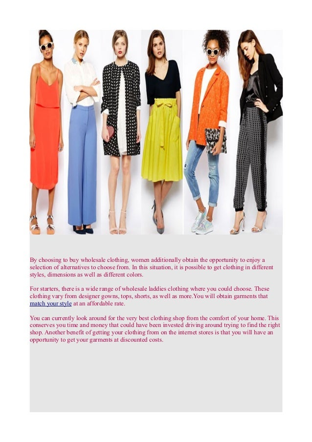 The best guide on how to select women's clothing wholesale
