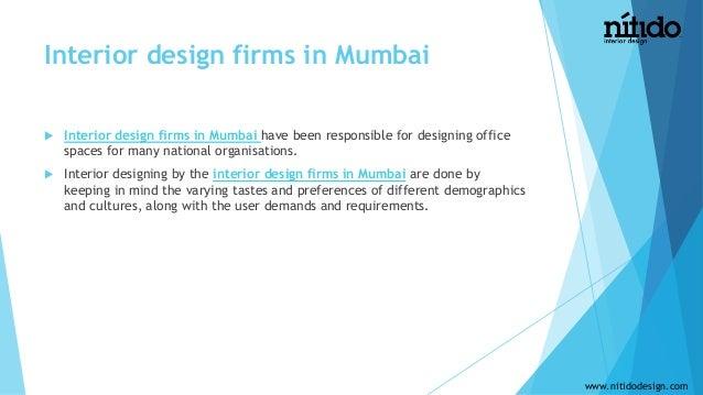 The best interior decorators in mumbai for Architecture firms in mumbai