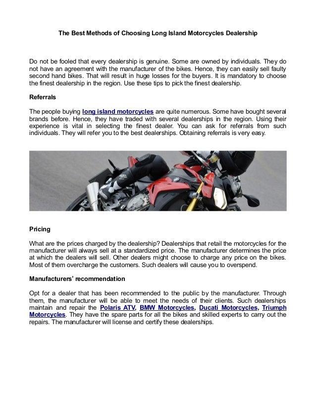 Bmw Dealers Long Island >> The Best Methods Of Choosing Long Island Motorcycles