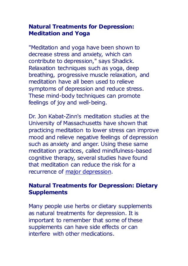natural meds for depression