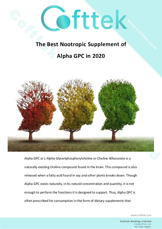 The Best Nootropic Supplement of Alpha GPC in 2020 1. Why We Need Alpha GPC In the last few years, people have started pay...