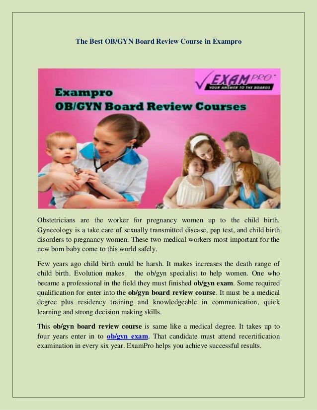 The Best Obgyn Board Review Course In Exampro