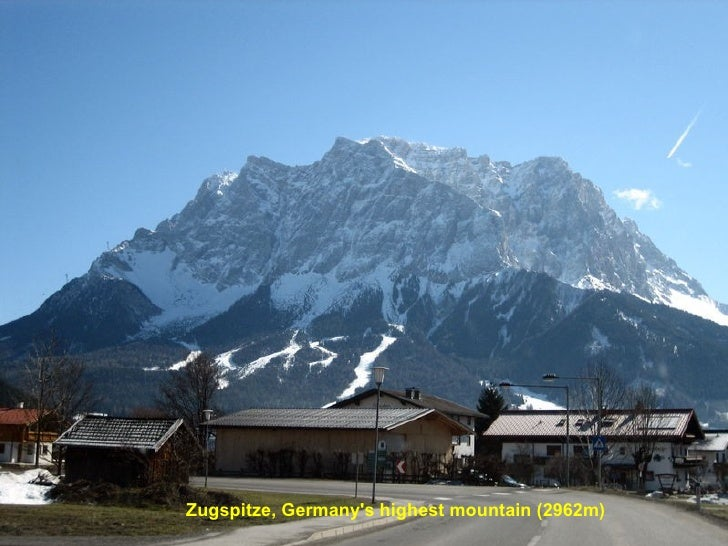 Zugspitze, Germany's highest mountain (2962m)