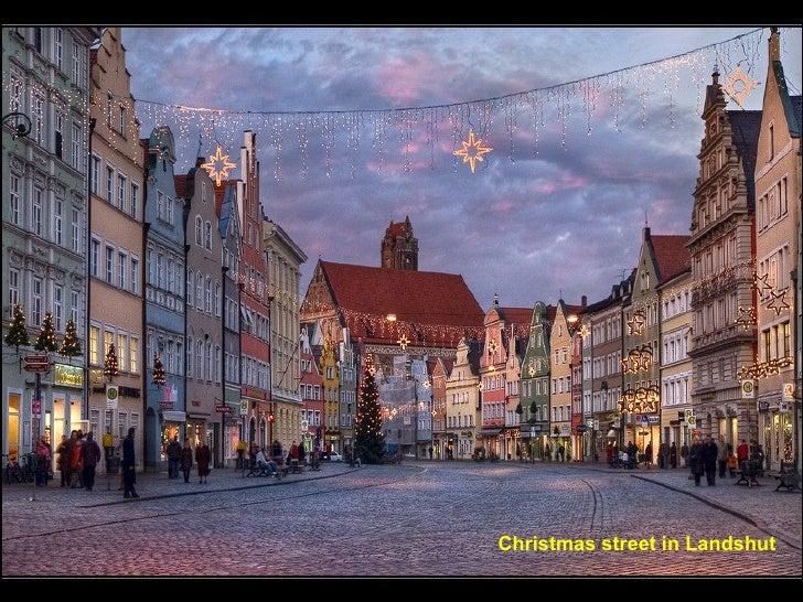 Christmas street in Landshut