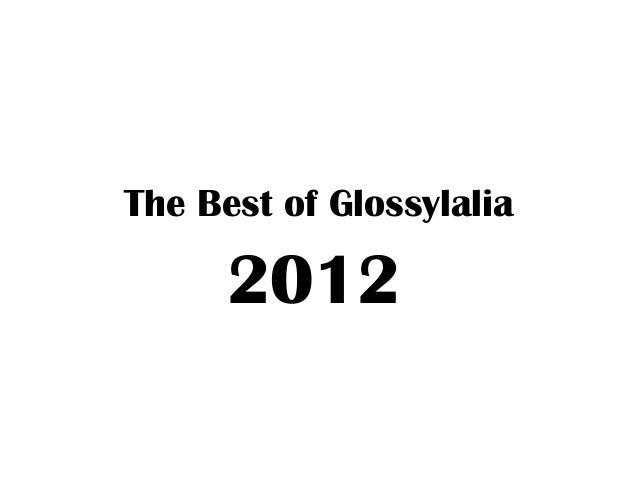 The Best of Glossylalia      2012