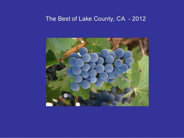 The Best of Lake County, CA - 2012