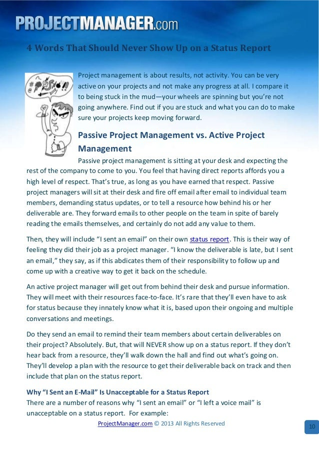 The Best Of Project Management Reports